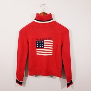 Polo Red Turtleneck Sweater